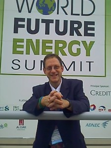 In Abu Dahbi at the First World Future Energy Summit