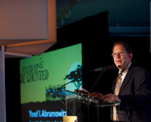 Yosef being honored at the 2013 'Stand up and be Counted' event in New York May 6th